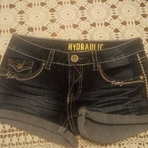 Hydraulic Denim short shorts, size 7/8